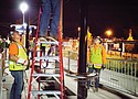 The installation of additional shelters over the past year on the new TriMet MAX light rail Orange Line between downtown Portland and Milwaukie is handled by crews from Raimore Construction, a black-owned business from northeast Portland and a firm enrolled in the transit agency's Disadvantaged Business Enterprise program.