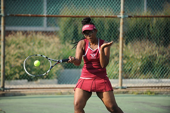 Brooklyn College's formidable women's doubles team of Georgeen Belrose and Shannel Johnson refer to themselves as Venus and Serena (after ...
