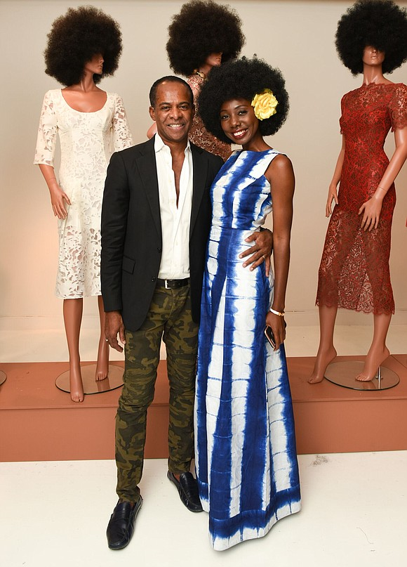 """African American,"" the spring/summer '18 fashion collection designed by Frederick Anderson, brought out the best in 1970s styles with a ..."