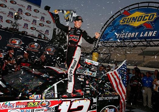 Kyle Busch won Sunday's Monster Energy NASCAR Cup Series Playoff event at Dover International Speedway when he made a late-race ...