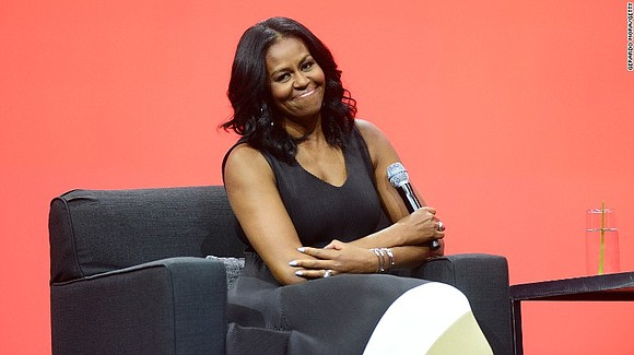 Former first lady Michelle Obama on Tuesday said there's a stark difference in the lessons young people will learn from ...