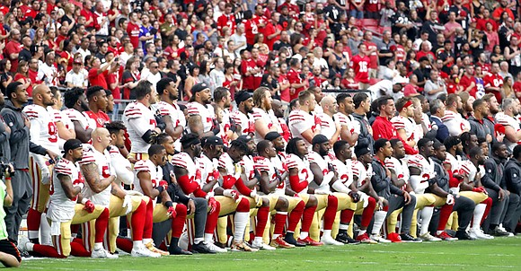 """President Donald Trump struck a nerve with NFL players when he implored team owners to """"get that son of a ..."""