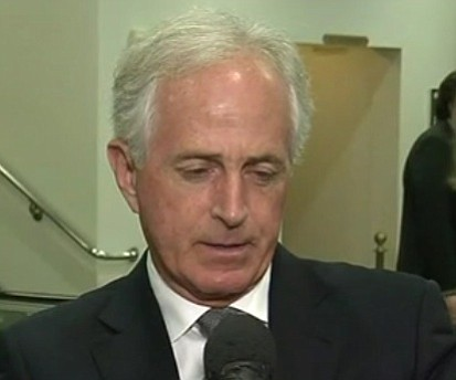 Sen. Bob Corker, who engaged in a public feud with President Donald Trump over the weekend, said Trump is setting ...