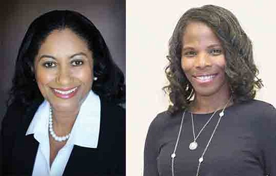 Alisha Madison and Joanee' Johnson of the Northrop Grumman Ccorp. of Falls Church were honored at the 22nd Annual Women ...