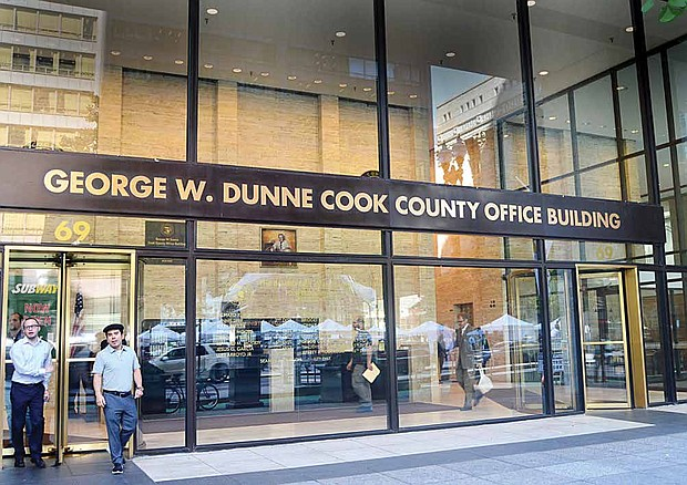 The lower-level of the George W. Dunne Cook County Office building, located at 69 W. Washington, is one of many sites where people can participate in early-voting, which was recently encouraged at the sixth annual National Voter Registration Day (NVRD). Photo Credit: Christopher Shuttlesworth