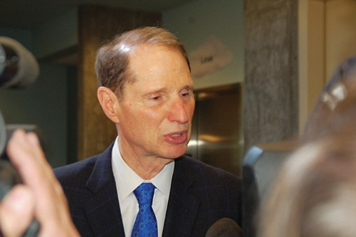 U.S. Sen. Ron Wyden, D-Ore., calls for legislation to protect young immigrants from deportation during a visit to Portland on Friday and a discussion with former Deferred Action for Childhood Arrival recipients at the Catholic Charities Clark Family Center.