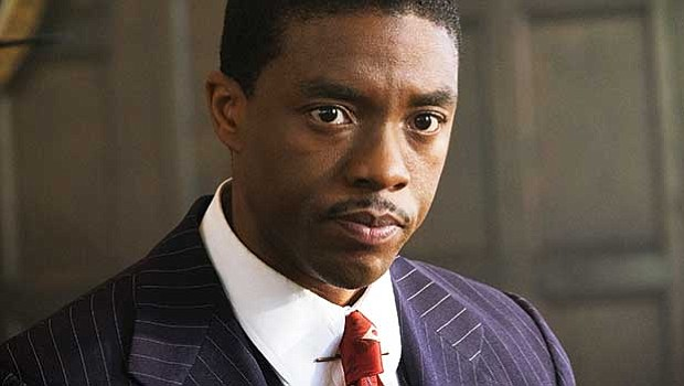 "Chadwick Boseman stars as Thurgood Marshall in ""Marshall."""