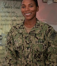 Baltimore native Monica Wahls is currently serving in the US Navy as a construction mechanic at a naval 