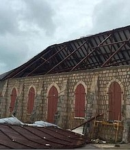 A church in Anguilla devastated by Hurricane Irma. - Photo by Jennifer Lewis-Hall