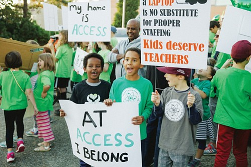 Students, teachers, and parents of Access Academy fight to keep their school intact