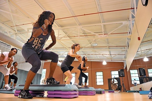 Working out in a group can increase fitness accountability.