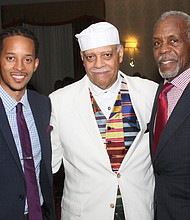 Madhubuti's son Akilil Lee, Dr. Madhubuti, and TWPF50 honorary chair and actor