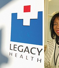 Vicki Guinn, a public relations manager at Legacy Health, oversees the community outreach into plans to develop a vacant lot next to Legacy Emanuel Hospital for community use while acknowledging the black community that was displaced from the site decades ago.