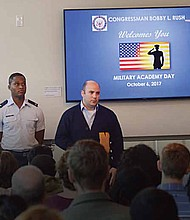 United States Congressman Bobby L. Rush recently hosted his first Congressional District Military Academy Day, which included the U.S. Military Academy, U.S. Naval Academy, U.S. Air Force Academy, U.S. Coast