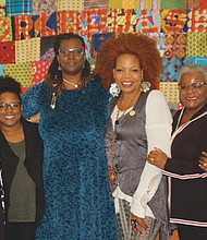 Community leaders plan for the upcoming 'Black Women's Gathering,' a revival of an event focusing on empowering and celebrating black women, healing, and a commitment of justice to strengthen families and the community. Pictured (from left) are organizers Joyce Harris, Stephanie Ghoston-Paul, Carol Tatch, S. Renee Mitchell, Debora Leopold-Hutchins and Adrienne Nelson.