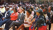 The audience was at capacity in Hibernian hall for the first of just two debates in which the mayor has agreed to participate.