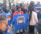 The family of Matthew McCree rally at the Bronx Hall of Justice