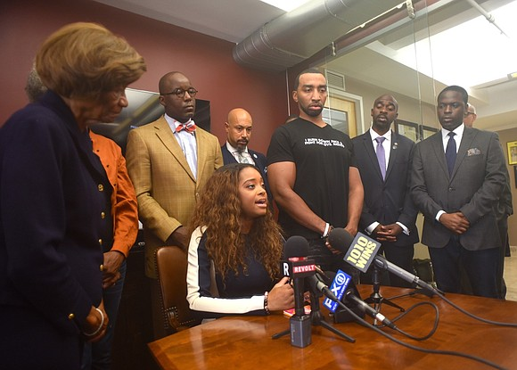 Activist Tamika Mallory believes she was the victim of white male aggression during an incident that made headlines on an ...