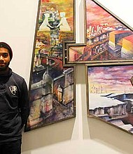 "Nygel Jones' ""Debut & Departing"" is on display at the Museum of the NCAAA through Jan. 7."