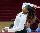 Senior outside hitter Kassandra Darnaby of Iona College