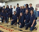 Lucille Kyvallos with the 2017-1B Queens College Knights