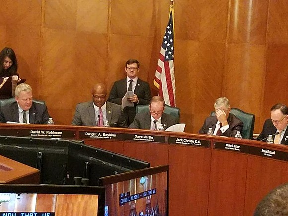 City Councilman Dwight Boykins and the rest of the Houston's City Council voted to approve an ordinance authorizing a lease ...