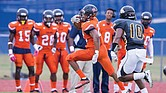 VSU's Trenton Cannon evades a Bowie State defender Saturday in Ettrick.