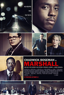 "Film critic Dwight Brown reviews Marshall starring Chadwick Boseman, directed by Reginald Hudlin about ""The State of Connecticut vs. Joseph Spell"" real-life court case."