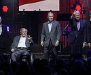 All five living former U.S. Presidents appeared at a Texas concert raising money for hurricane relief efforts. Left to right are Jimmy Carter, George H.W. Bush, George W. Bush, Bill Clinton and Barack Obama.