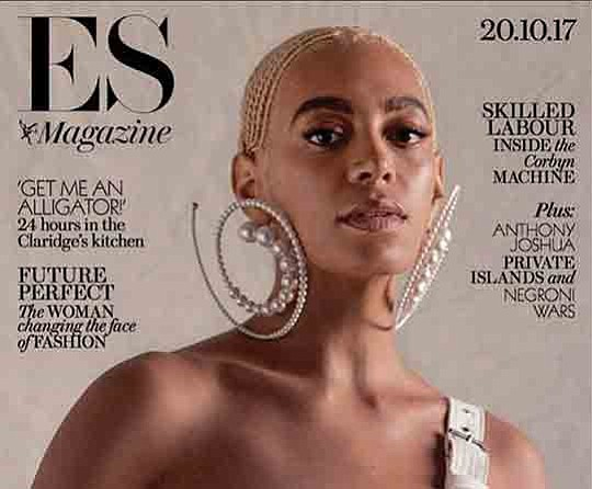 he London Evening Standard magazine apologized to singer Solange..