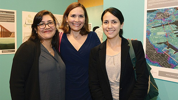 The BAC's Diana Ramirez with Graciela Gomez Garcia and Michelle Arroyo from the Consulate General of Mexico in Boston.