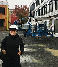 Jeffrey Eisen, chief medical officer at Cascadia Behavioral Healthcare and Joan Jasper from Scott Edwards Architecture tour the construction of the Garlington Center for Health and Wellness, a new all-in-one facility to bring mental health, addiction counseling and physical health services into one location, while also providing affordable housing options.