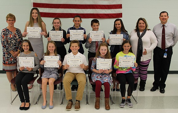 The Shorewood Lions Club recognized Troy Community School District 30-C September Students of the Month at the school district's October ...