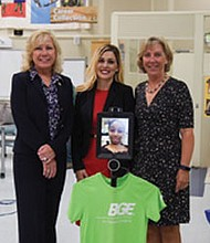 (Left to right) Lynn Hrdlick-Kerner, BGE Corporate Relations, Brittany Jones, BGE External Affairs Manager and 