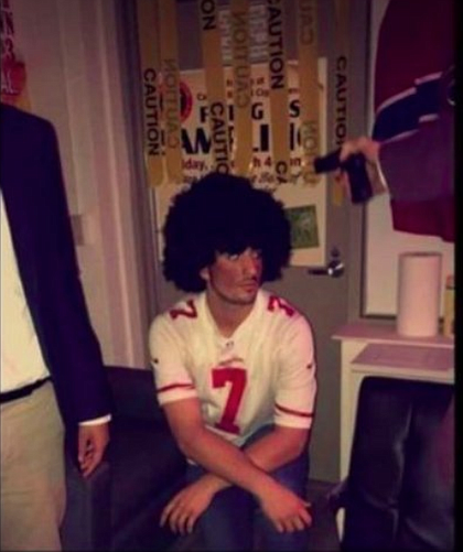 Dickinson College student in blackface as Colin Kaepernick