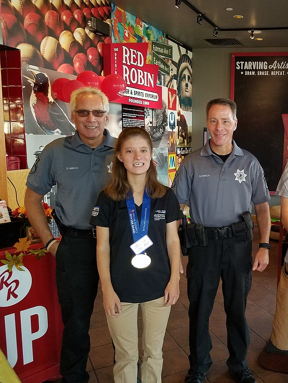Forest Preserve District of Will County police officers Steve Kirsch and Darrell Mayle recently raised $1,000 for Special Olympics during ...