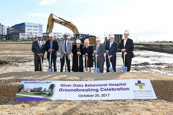 Silver Cross Hospital and US Health Vest broke ground on a planned 100-bed behavioral health hospital on the Silver Cross ...