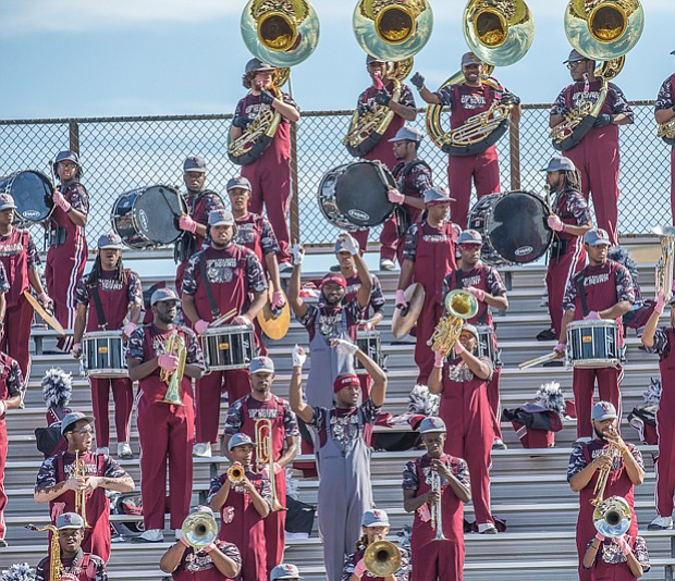 Wild with pride // the VUU Ambassadors of Sound Marching Band have the Divine Elegance dancers — and the crowd — moving.