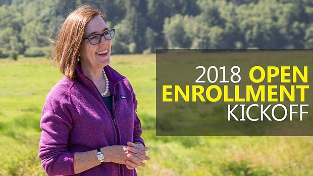 Gov. Kate Brown is highlighting the importance of health insurance and the local help available to Oregonians who wish to sign up for insurance in 2018 under the Affordable Care Act.