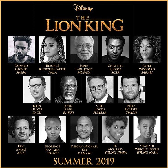 Beyoncé has rounded out the cast of Disney's upcoming live-action remake of The Lion King.