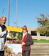 Now retired from the public and private sectors, Zari Santner and Michael Alexander are building momentum as volunteers and advocates for a plan to return the Rose Quarter area into a fully functioning, diverse neighborhood, keeping the sports and entertainment venues that now dominate the landscape, but adding new residential and business-centered blocks on existing tracks of publicly-owned land.