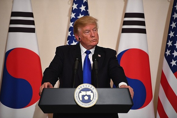 Standing near the front line of the world's tensest standoff, President Donald Trump on Wednesday issued a direct and personal ...