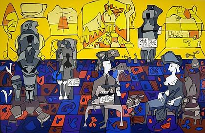 Cundo Bermudez, Quinteto Matancero, 1994 (serigraph - gift to the Museum from Univision)