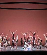 "Boston Ballet in Jorma Elo's ""Fifth Symphony of Jean Sibelius."""