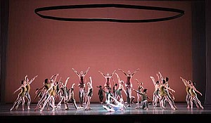 "Boston Ballet in Jorma Elo's ""Fifth Symphony of Jean Sibelius."""