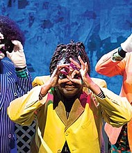"""(l-r): Wesley T. Jones, Vienna Carroll, Michael Bryan star in """"3/ Fifths' Trapped In a Traveling Minstrel Show."""""""