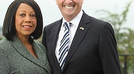 Sheila Oliver and Phil Murphy.