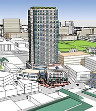 The development team advancing the Rio Grande tower are planning 236 residential units in the 25-story building.
