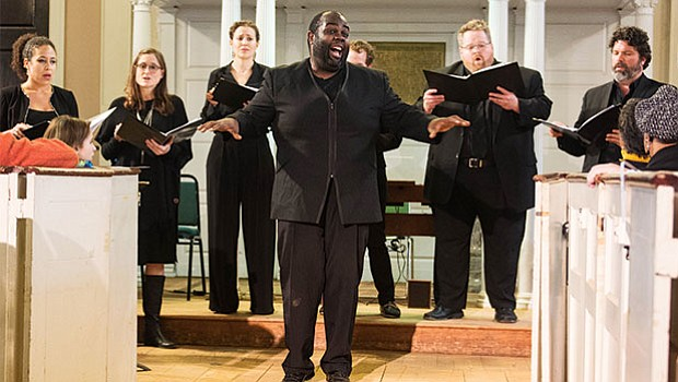 The Handel and Haydn Society returned to the First Church in Roxbury for the Every Voice free community concert in partnership with the Unitarian Universalist Urban Ministry.