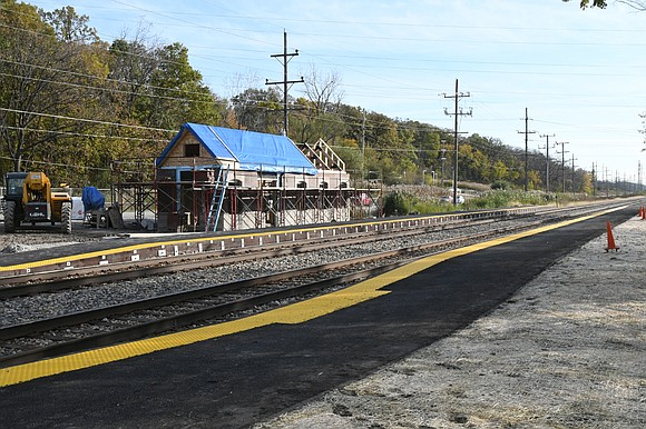 Heritage Corridor trains to begin service at new station.